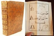 1758 Surveying and Measuring (in French), 12 fold-out plates. Cat's-paw calf