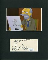 Kirk Douglas The Simpsons Chester J. Lampwick Signed Autograph Photo Display JSA