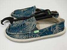 Sanuk Womens Sidewalk Surfers Donna Palm Olive Palm Size 7