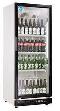 AG Gastro Kühlschrank Flaschenkühlschrank Glastür 310 Liter 620x635x1562 schwarz