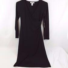 NWT Judith Hart Women's Dress Small Black Long Sleeve Flare Career Cocktail Work