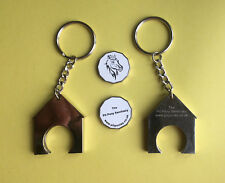 SOLID STEEL SHOPPING TROLLEY TOKEN COIN HOLDER - FOR TOKEN, 1EURO OR £1