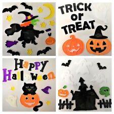 4 Sheets of Halloween Gel Stickers, Halloween Window Gel Clings