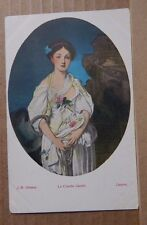 Postcard Art La Cruch Cassee By J.B Greuze in The Louvre Paris unposted