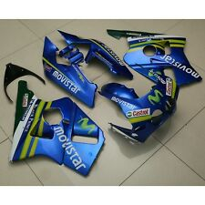 Blue ABS Castrol Fairing Bodywork Kit Fit Honda CBR400RR CBR 400 RR NC23 1988 89
