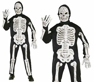 Adult EVA Skeleton Mens Halloween Fancy Dress Costume Skeletons Outfit Clearance