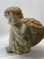Ceramic Angel Figurine - Glazed and Bisque