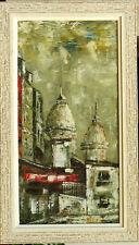 Tableau sur toile 1950 Montmartre Paris signature?