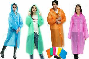 Raincoat Waterproof Reusable Plastic Adult Camping Festival Rain Coat UK