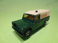 EFSI HOLLAND - LAND ROVER LAND-ROVER - POLICE - GREEN 1:63 - GOOD CONDITION