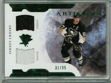 11/12 Upper Deck Artifacts Sidney Crosby Emerald Dual Patch Jersey #'ed 31/35