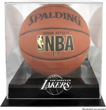 Los Angeles Lakers Black Base Logo Basketball Display Case with Mirror Back