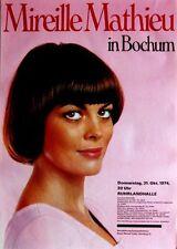 MATHIEU, MIREILLE - 1974 - Konzertplakat - Concert - Tourposter - Bochum
