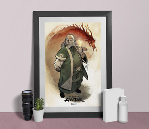 Avatar legend of Aang Poster uncle Iroh quote Appa Wall Art print Size A4 A3 A2
