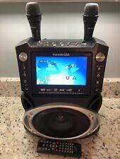 "New ListingKaraoke Usa #Gf829 Dvd/Cdg/Mp3G 7"" Tft Color Screen Karaoke System 2 Mics Tested"