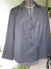 Jones New York Women Pinstripe Blue Career Blazer Suit Jacket Size 14W NWT