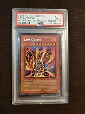 Lava Golem PGD-107 PSA 9 1st Ed Pharaonic Guardian Secret Rare Mint 2003 YuGiOh