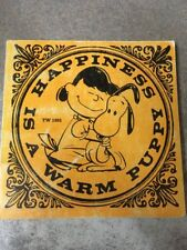 """Snoopy """"Happiness is a Warm Puppy"""" TW 1801 First Printing November 1970"""