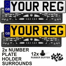 GB euro badge pair Standard Pressed Number Plates Metal Car MOT REG Road Legal