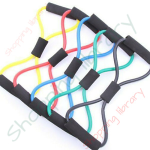 🔥 8 Shape Resistance Band Pilates Workout Yoga Stretch Pull Rope🔥🔥🔥🔥🔥