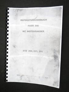 MZ ETZ 250, 251, 301 Reperaturhandbuch Reperaturanleitung Handbuch Schaltplan DE