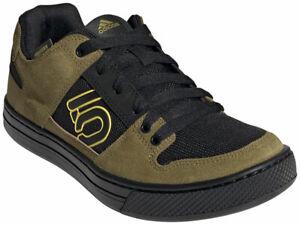 Five Ten Freerider Flat Shoe - Men's, Hazy Yellow / Wild Moss / Core Black, 12