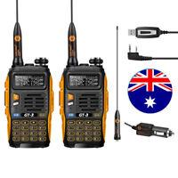 2-4d! 2x Baofeng GT-3 MarkII + 1x USB Cable VHF/UHF Dual Band Ham 2-way Radio