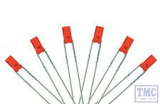 LED-RDF3 DCC Concepts Rich Signal Red 3mm Flat Front LED w/Resistors (6)
