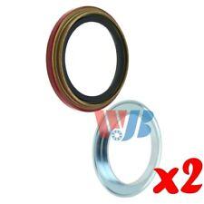 Pair of 2 WJB WS5604 Front Oil Seal Wheel Seal Interchange 5604