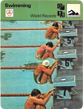 1978 Sportscaster Card Swimming World Records # 20-23 NRMINT.