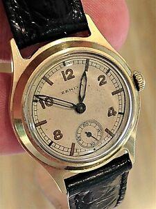 Men's VERY SCARCE 1941 WWII ZENITH GERMAN LUFTWAFFE PILOT WINDING Wrist Watch