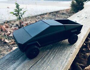 3D Printed Tesla CyberTruck - Black | Functioning Wheels | 1/26th scale