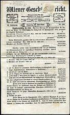 ÖSTERREICH 1861 23e auf WIENER GESCHÄFTSBERICHT ATTEST FERCHENBAUER 925€(S7467
