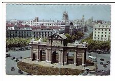 Postcard: Panoramic View, Alcala Doorway, Madrid, Spain