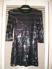 GLAMOROUS SEQUIN MINI DRESS - EVENING WEAR SIZE SMALL - FESTIVAL/DISCO/PARTY