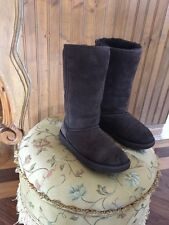"Ugg AUSTRALIA BIG KIDS BROWN TALL CLASSIC  Boots ""EVA"" Size 6 Sheepskin 5229Y"