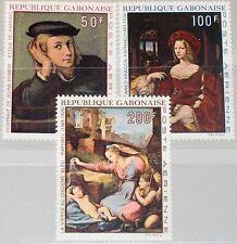 GABON GABUN 1970 374-76 C102-02B Raphael Raffael Paintings Gemälde Art Kunst MNH