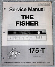 THE FISHER 175-T Stereo Tuner Receiver & 23R Service Manual Original Shop Repair