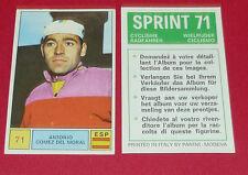 N°71 GOMEZ DEL MORAL ESPAÑA PANINI SPRINT 71 CYCLISME 1971 WIELRIJDER CICLISMO