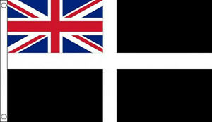CORNISH ENSIGN FLAG 5' x 3' Cornwall England County English Counties