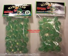 2 BAGS OF KING FISH BRAND PLAY MARBLES ADVERTISING PROMO MARBLES