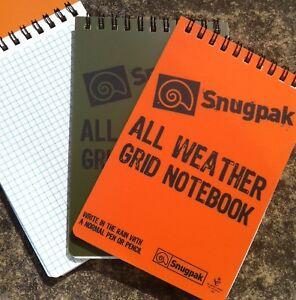 Snugpak All Weather Grid Notebook Waterproof Paper Pad