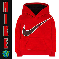 Nike Boys Size 4 KO 3.0 Therma-Fit Pullover Hoodie Crimson 86A583