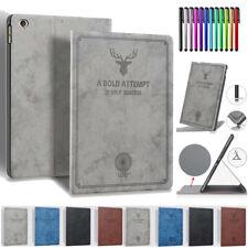 """For iPad 5th 6th Gen 9.7"""" Mini Pro 10.5 11"""" Air 2 Smart Retro Leather Case Cover"""