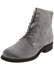 OTBT Womens Size 8 M Grey Steel Jal Ankle Boots Lace Up Leather Round Toe Block