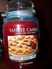YANKEE CANDLE - ( 1 )  CHERRY BERRY PIE   22 OZ Jar Housewarmer Jar  FREE Ship !