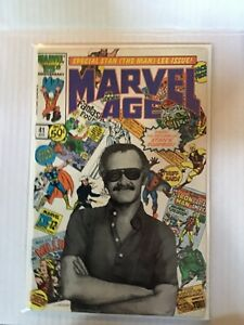 MARVEL AGE # 41 STAN LEE COVER FIRST PRINT MARVEL COMICS