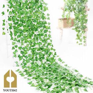 24X Artificial Ivy Trailing Vine Fake Foliage Flower Hanging Leaf Garland Plant