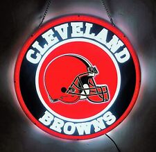 """Cleveland Browns Dawg Pound Led 3D Neon Sign 16""""x16"""" Light Beer Bar Lamp Decor"""