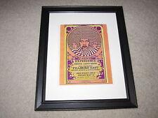 "Framed Jimi Hendrix Experience 1968 Concert Poster, Joshua Light Show14"" x 17"""